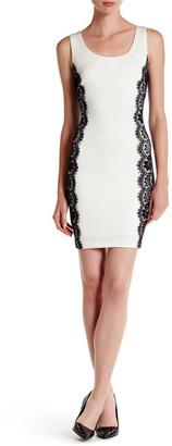 GUESS Scuba & Lace Sheath Dress $128 thestylecure.com