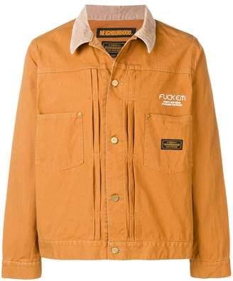 Neighborhood logo bomber jacket