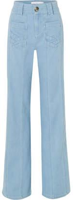Victoria Beckham Victoria, High-rise Wide-leg Jeans - Mid denim