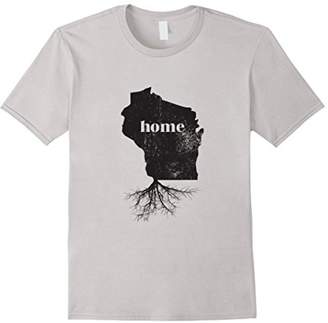 Wisconsin Home Roots State Map Shirt Born Love Pride Gift T