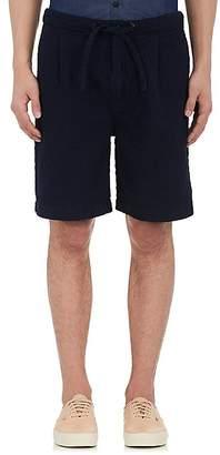 Fdmtl Men's Cotton Plissé Wide-Leg Shorts