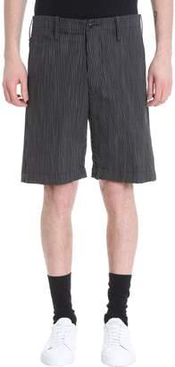 Mauro Grifoni Black/white Cotton Shorts