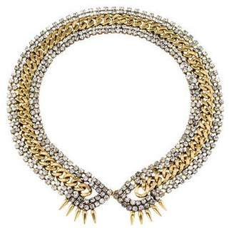 Fallon Crystal & Curb Chain Collar Necklace