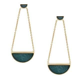 Fossil Women's Half-Moon Jade Drop Earrings