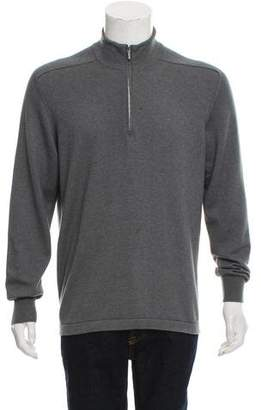 Loro Piana Half-Zip Cashmere-Blend Sweater