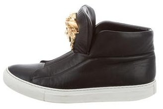 Versace Leather Medusa Sneakers $475 thestylecure.com