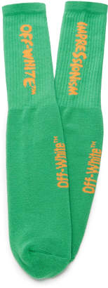 Off-White Bubble Font Cotton-Blend Socks