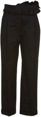 Carven Ruffle Front Cropped Trousers