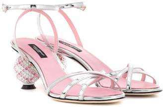 Dolce & Gabbana Crystal-embellished sandals
