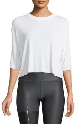 Alo Yoga Abyss Short-Sleeve Crewneck Top