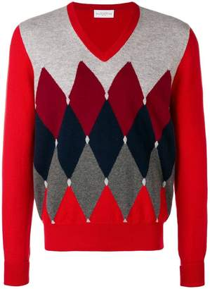 Ballantyne diamond instarsia sweater