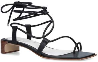 Rag & Bone Leather Cindy Tie Sandal