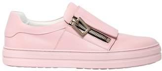 Roger Vivier 25mm Sneaky Viv Zip-Up Leather Sneakers