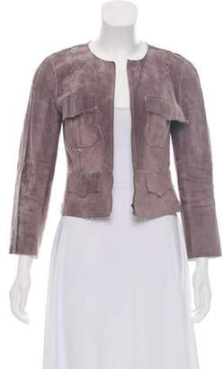 Chanel Suede Cropped Jacket white Suede Cropped Jacket