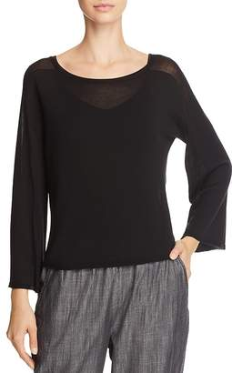 Eileen Fisher Lightweight Boat-Neck Sweater