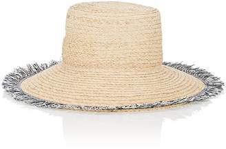 Barneys New York WOMEN'S FRINGE-TRIMMED RAFFIA HAT