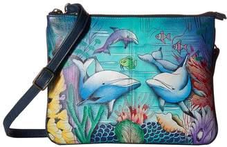 Anuschka 570 Triple Compartment Crossbody Handbags