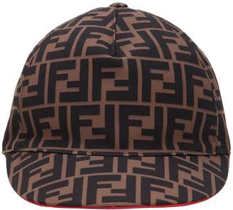 Fendi Logo Printed Baseball Cap