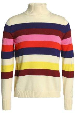 Striped Merino Wool Turtleneck Sweater