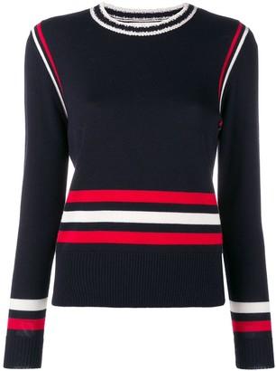 Parker Chinti & colour-block striped sweater