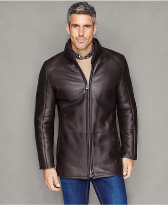 The Fur Vault Mens Shearling Lamb Stand-Collar Jacket $2,995 thestylecure.com