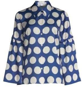 Robert Rodriguez Polka Dot Button-Down Shirt