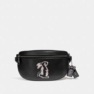 Coach Selena Belt Bag With Bunny