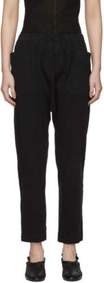 Raquel Allegra Black Vintage Relaxed Lounge Pants