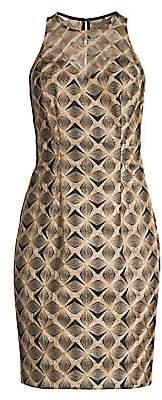 Trina Turk Women's Eastern Luxe Origami Embroidery Sheath Dress - Size 0