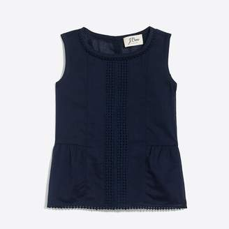 J.Crew Factory Girls' cotton pom-pom shell