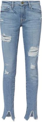 Frame Le Skinny De Jeanne Front Split Jeans