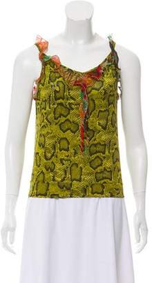 Etro Animal Print Sleeveless Top