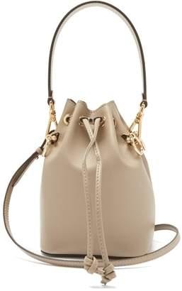 983f63713b40 Fendi Mon Tresor Mini Leather Bucket Bag - Womens - Grey