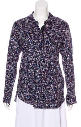 Splendid Printed Button-Up Top