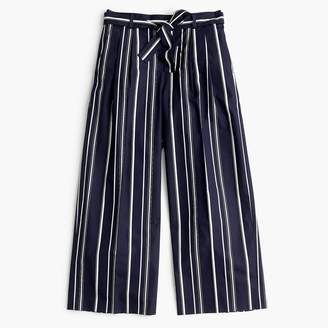 3b5e9e7105f at J.Crew · J.Crew Petite wide-leg cropped pant in stripe