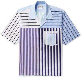Maison Margiela Camp-Collar Striped Cotton-Poplin Shirt