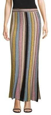 M Missoni Vertical Stripe Crochet Skirt