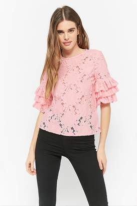 Forever 21 Boxy Floral Crochet Top