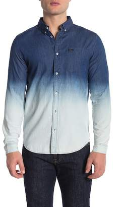 RVCA Ombre Slim Fit Chambray Shirt