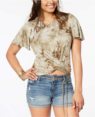 American Rag Juniors' Printed Crisscross Top, Created for Macy's