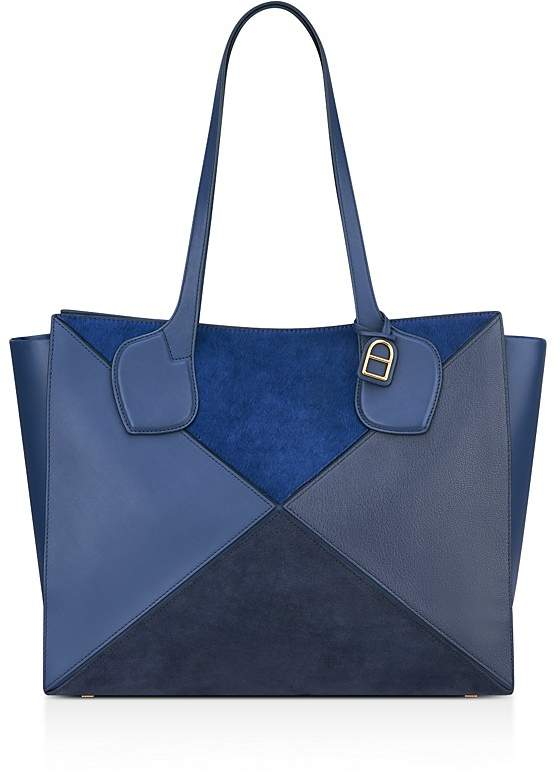 Anne Klein Julia East/West Large Calf Hair and Leather Tote