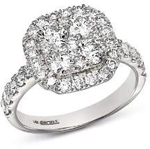 Bloomingdale's Diamond Cluster Ring in 14K White Gold, 1.95 ct. t.w. - 100% Exclusive