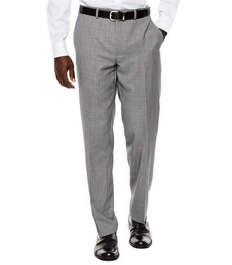COLLECTION Collection by Michael Strahan Black White Birdseye Flat-Front Suit Pants - Classic Fit