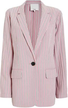 Tibi Striped Oversized Blazer