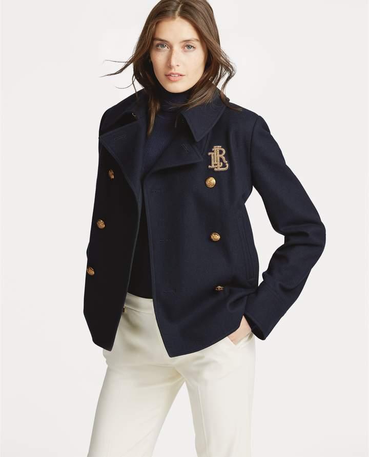 Ralph Lauren Bullion-Patch Wool-Blend Coat
