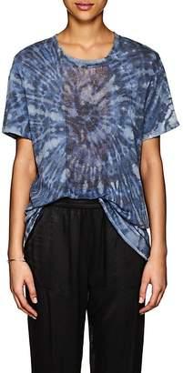 Raquel Allegra Women's Tie-Dyed Shredded Silk T-Shirt