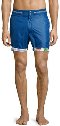 Robert Graham Disembark Solid Swim Trunks $168 thestylecure.com