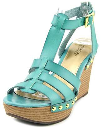 American Living Abaline Women Open Toe Synthetic Blue Wedge Sandal