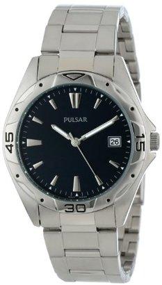Pulsar (パルサー) - Pulsar Men's PXH455 Sport Silver-Tone Stainless Steel Watch