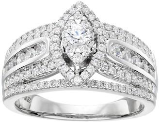 Vera Wang Simply Vera 14k White Gold 1 Carat T.W. Diamond Marquise Engagement Ring